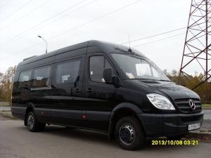 Заказать Автобус Мерседес-Спринтер-515 2010 года 21 место ЧЁРНЫЙ