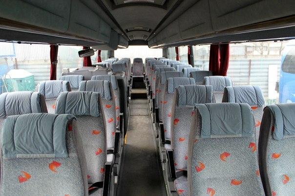 Салон автобуса Скания ИРИЗАР на 51 место