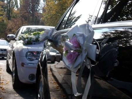 Свадебный кортеж из представительских автомобилей